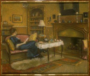 Teresa's sister, Gioconda, sitting in the Hulton family home in Venice, 1913
