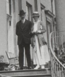 Captain Van Bergen and his wife at Attingham