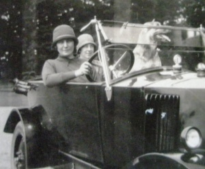 Teresa in a car in the 1920s