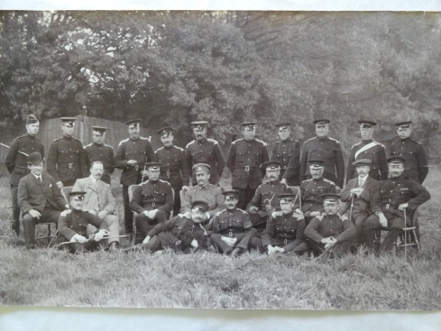 The Shropshire Yeomanry, early 1900s. Lord Berwick is stood on the far right on the back row,