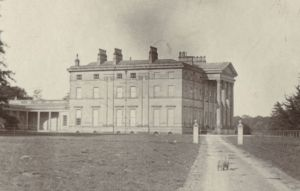 Attingham Hall during the early 1900s. View towards the west side of the house.