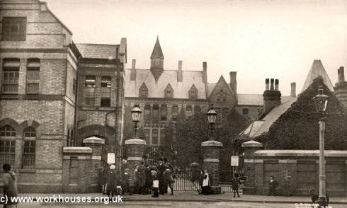 Strand Workhouse Edmonton from north entrance to Belgian Refuge c 1915