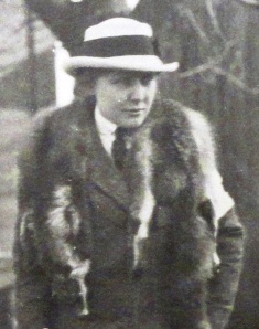 Teresa Hulton wearing her furs in November 1915 on the Italian Front.