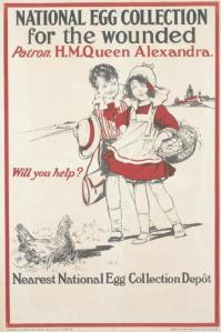 Egg collection poster from WWI.