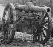 A 2.75 inch mountain gun at the Battle of Neuve Chapelle, France, March 1915