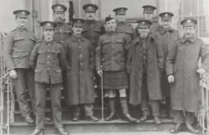 Men at Attingham, c.1917.