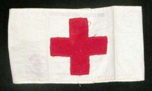 Teresa Hulton's Red Cross armband