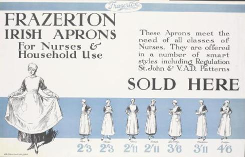 First World War advert for aprons