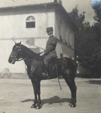 Luigi Villari, on his horse 'Fanciullo', Florence, August 1915.