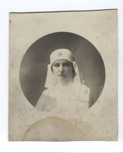 Teresa in her white nurse uniform, 1915