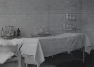 Hospital room at Gradisca, northern Italy.