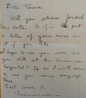 Letter to Teresa Hulton, February 1916.