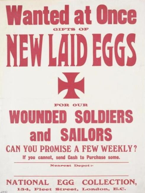 Egg collection poster. © IWM (Art.IWM PST 10825)