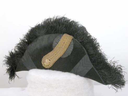 Bicorn hat, part of Lord Berwick's diplomatic uniform made in 1903.