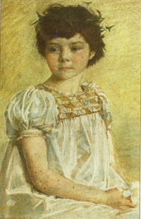 Bridget Talbot as a girl. Image courtesy of Kiplin Hall.
