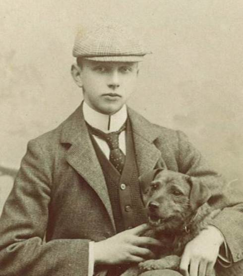 Lord Berwick as a young man at Oxford University, c.1898. His uncle, the 7th Baron Berwick, died in 1897 and Thomas became the new owner of the Attingham estate.