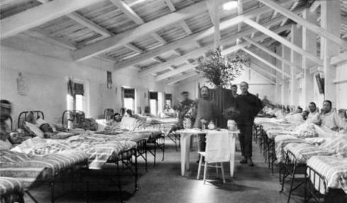 The Villa Trento hospital during WWI. Image courtesy of the British School at Rome photographic collection.